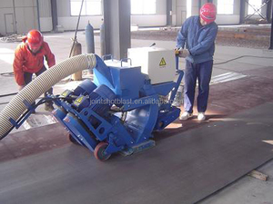 park road shot blasting machine/ship deck floor shot blasting machine