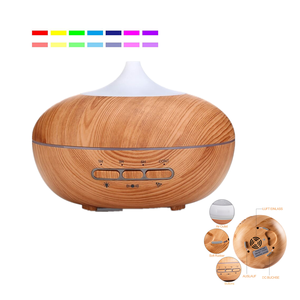 Home Office SPA Dark Wood Ultrasonic Aromatherapy Essential Oil Diffusers With 12Months Warranty