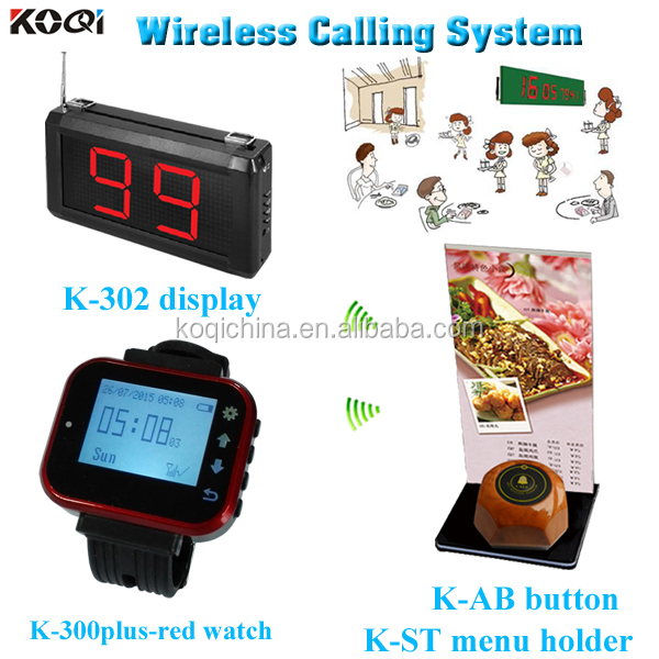 Kelner oproep systeem alpha digitale horloge pager draadloze restaurant call attendant pager service systeem