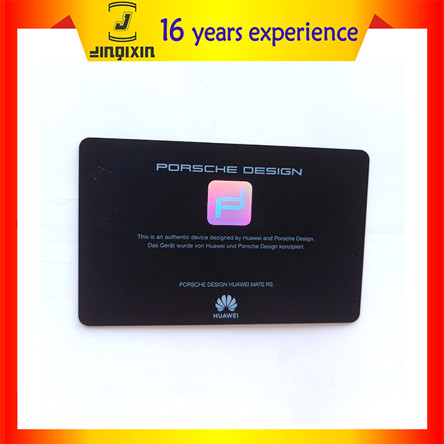 Professional custom wholesale hot stamping brand pvc card printing hologram