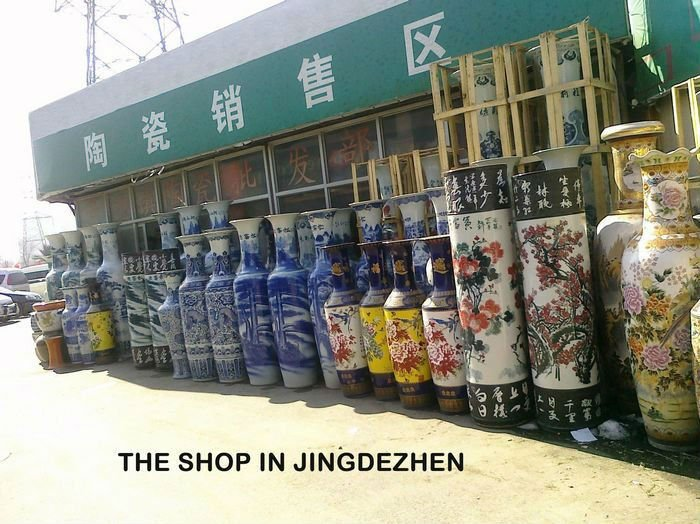 22 Meter And 6 Feet Tall Hand Painted Large Chinese Ceramic Floor Vases As Home Decorations