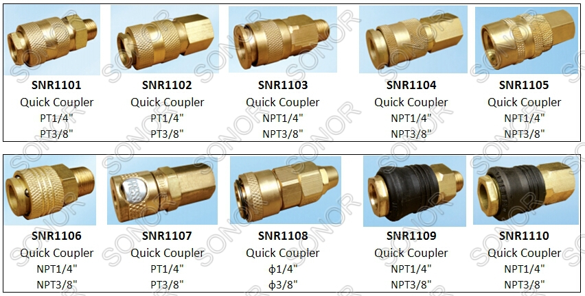Good quality brass push in fitting for air compressor