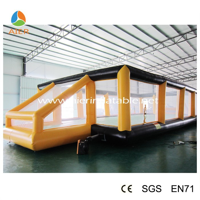Big inflatable soap football field,inflatable soccer field