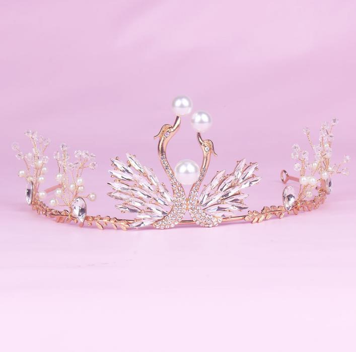 Neue Mode Kristall Peal Kronen, Angepasst Kronen Große Hochzeit Tiara, Großhandel Pageant Tiara Crow Hochzeit Accessoriesns