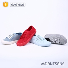 Low price custom color spring summer women comfort shoes injection casual canvas shoes