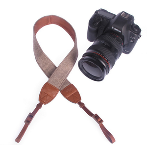 2019 Dropshipping Cotton Leather Vintage Camera Straps Shoulder Neck Belt For Sony Nikon Canon SLR Camera