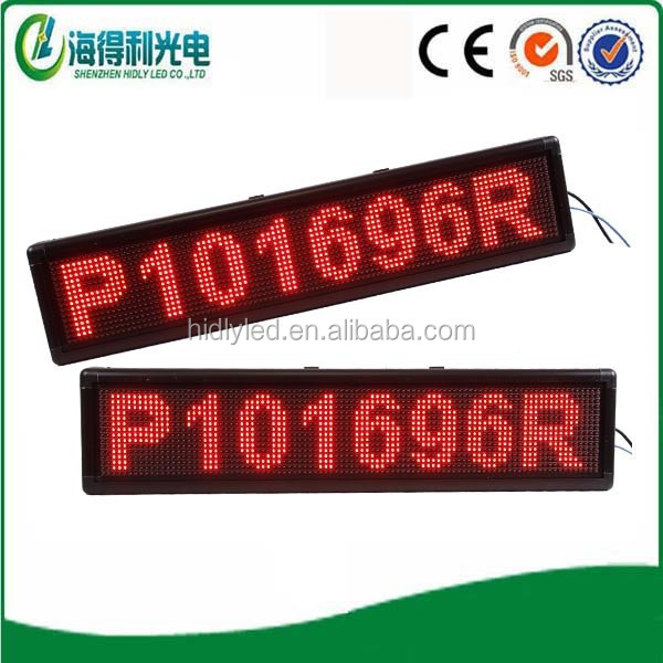Dongguan professional supplier customised size single red color outdoor advertising led display