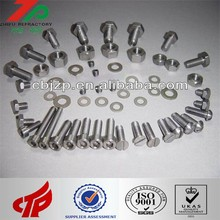 99.95% Pure Molybdenum Threaded rods/Bolts/screws/Nuts/Fasteners/Washers