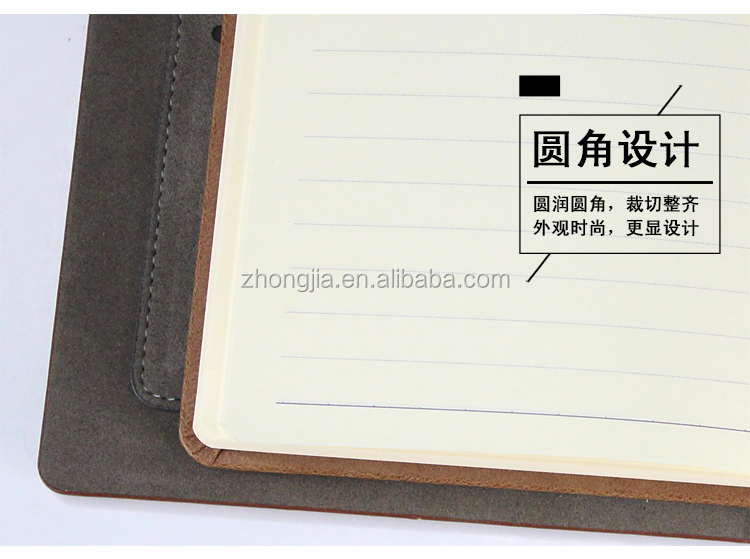 Elegant Black Brown Blue Leather Memo Book notebook Premium Thick Paper with Pen Loop