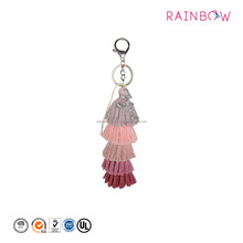 Colorful layered Tassel Keychain