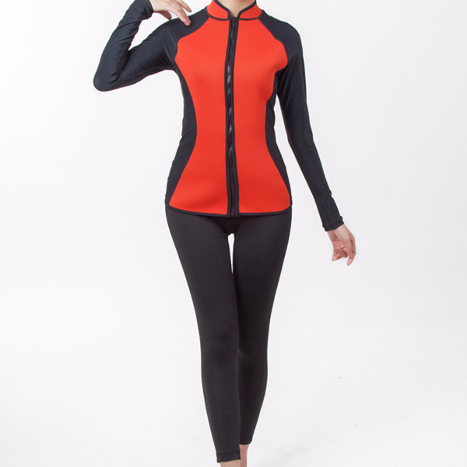 High Elastic Lycra Long Sleeve Surfing Suit For Women