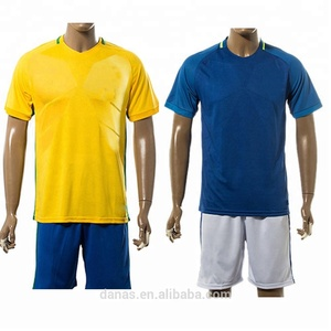 Brazil new quick dry football shirt soccer jersey and shorts