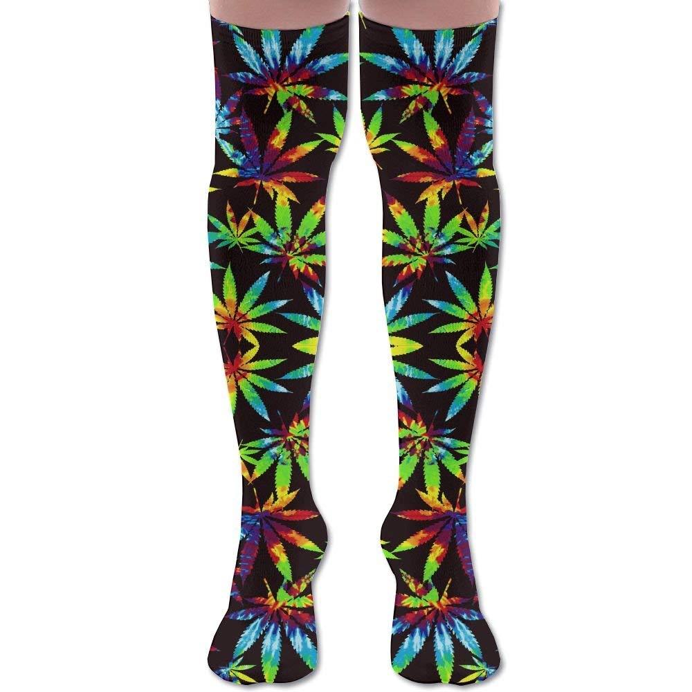 24d04734885 Get Quotations · Cute Unicorn Floral Unisex Athlete Over Knee High Socks  Sport Football Soccer Tube Socks