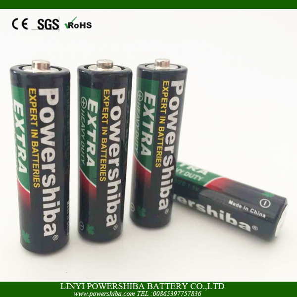 Super Heavy Duty AA R6 UM3 Battery With Shrink Packing