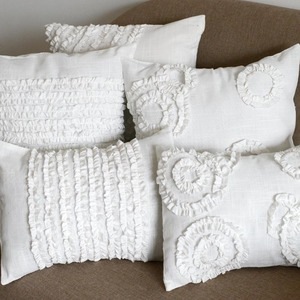 Hot sale Hand made pleated technique pillow cover home decorative pillow sofa cushion