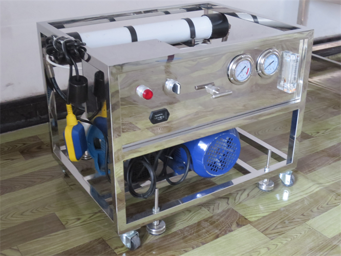 Mini Desalination Plant : Mini sea water purification ro machine portable