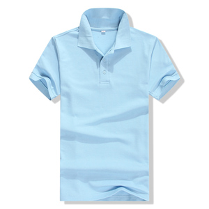 promotional custom CVC Polo T Shirt With Button Design