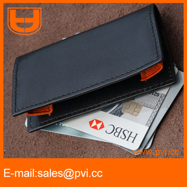 The Ultimate Minimalist Men's Wallet /Super Slim/ Fits Front Pocket / Secure Elastic Construction /Several Colors