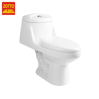 Chinese factory supply bathroom round s-trap ceramic modern one piece wc siphonic toilet