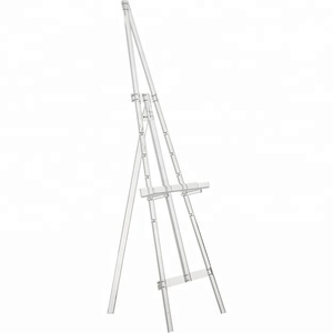 Clear Lucite Acrylic tripod easel for painting or wedding welcome sign
