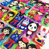 Universal Silicone Phone Case 3d Cartoon Cute Frame Bumper Led ...