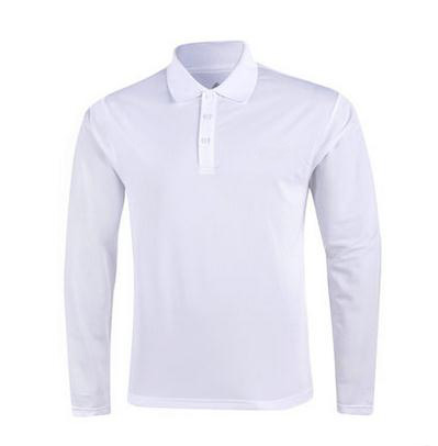 the cheapest 100 polyester white polo t shirt casual men polo shirt long sleeve 130g weight lightweight polyester polo shirts