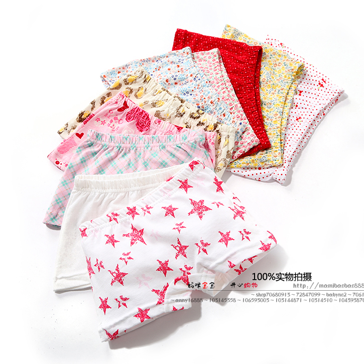 Free shipping new 2014 spring autumn boys print panties girls floral shorts baby clothing child cotton