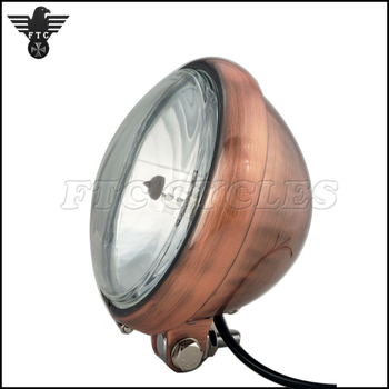 5 3 4 Bronze Vintage Motorcycle Headlight For Harley Custom Buy