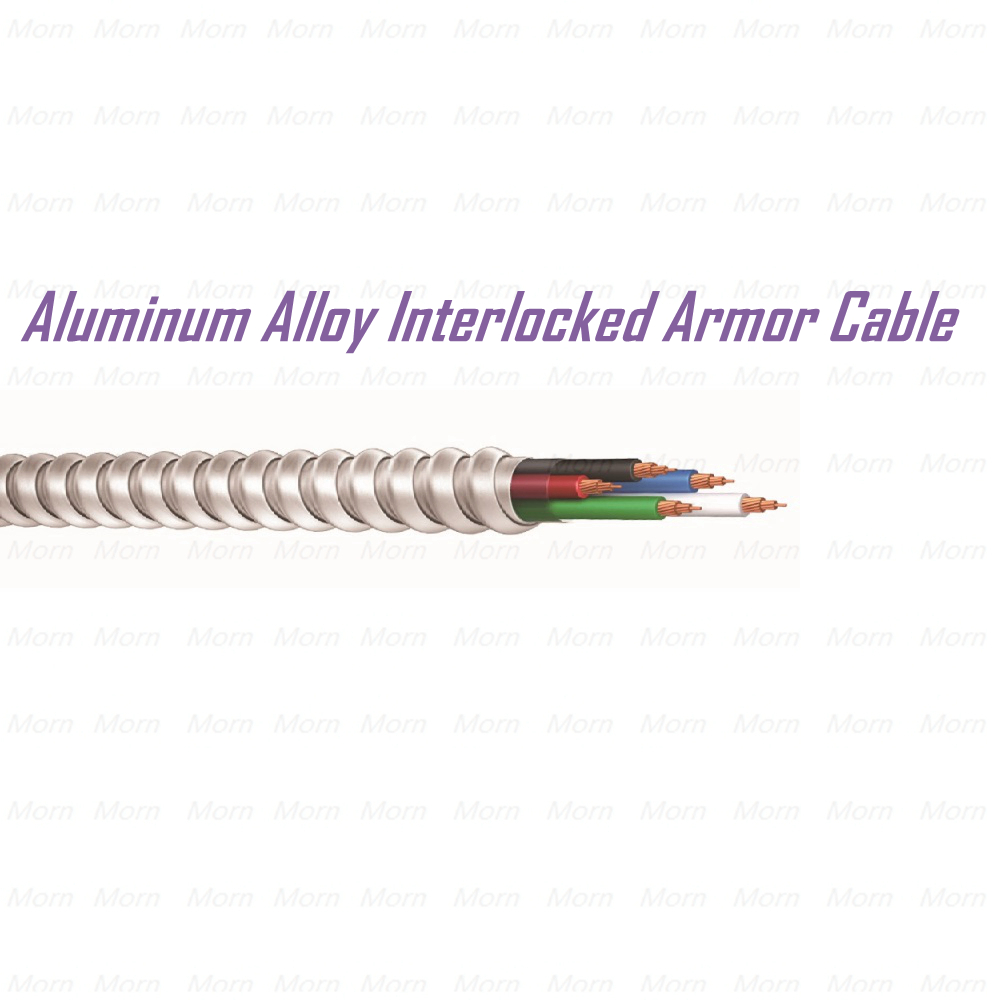 Aluminum Alloy Interlocked Armor (AIA) Cable Low-Temp/Oil/Sunlight Resistant, Flame Retardant, Metal Clad Cable MC cable