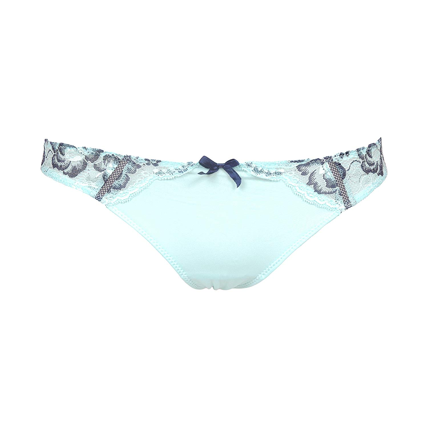 b1dd3768b Get Quotations · Baby Blue Lace And Microfiber Thong