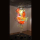 Multicolor flower led crystal chandelier