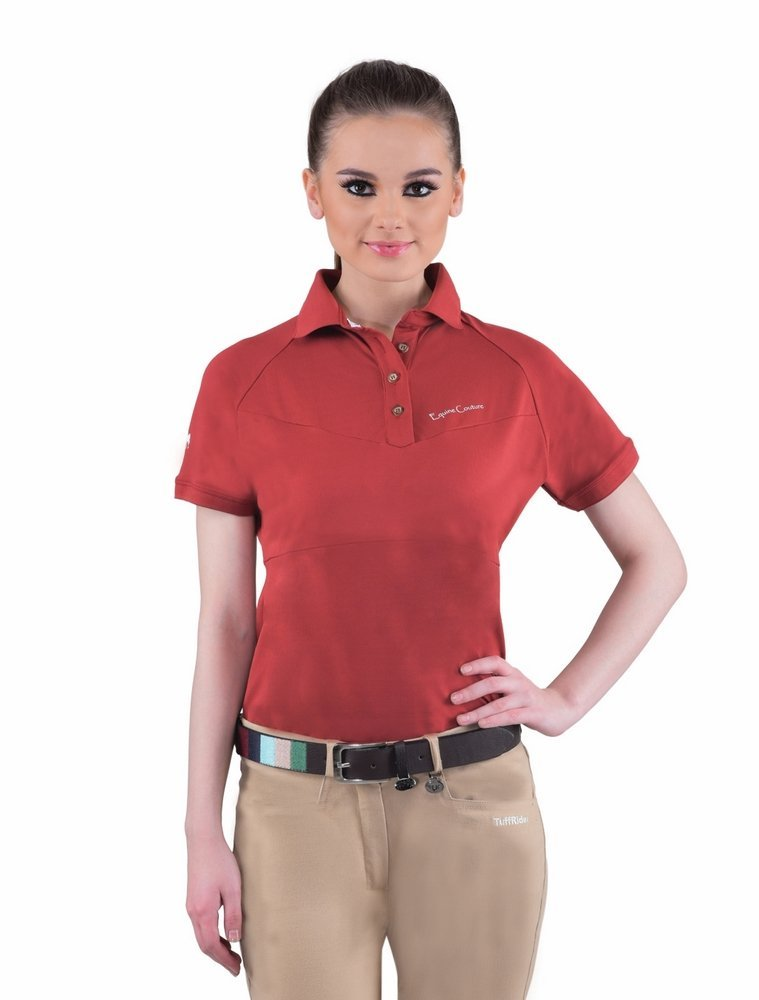 Equine Couture Ladies Performance Short Sleeve Polo Sport Shirt