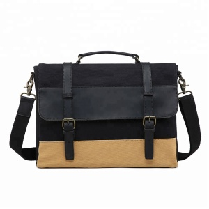 New Men's Briefcase Messenger Carry Crossbody Leather Shoulder Bag