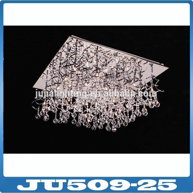 wholesale crystal led rain drop light for the living room
