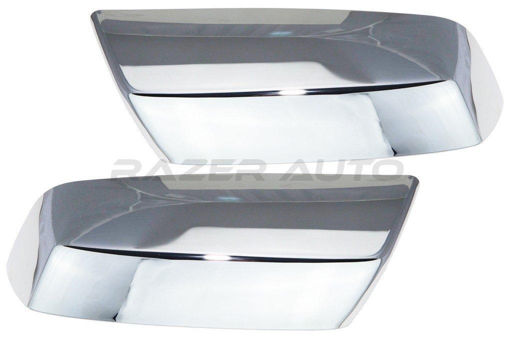Razer Auto 2014-2015 Chevy Silverado 1500 / 2015 Chevy Silverado 2500 & 3500 / 2014-2015 GMC Sierra 1500 / 2015 GMC Sierra 2500 & 3500 Chrome Top Half Mirror Cover