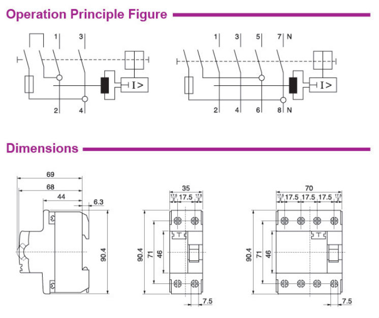 Csqfd P Electrical Rccbelcbrcd Buy P Rcdp Elcbp Rccb - Elcb wiring diagram drawing