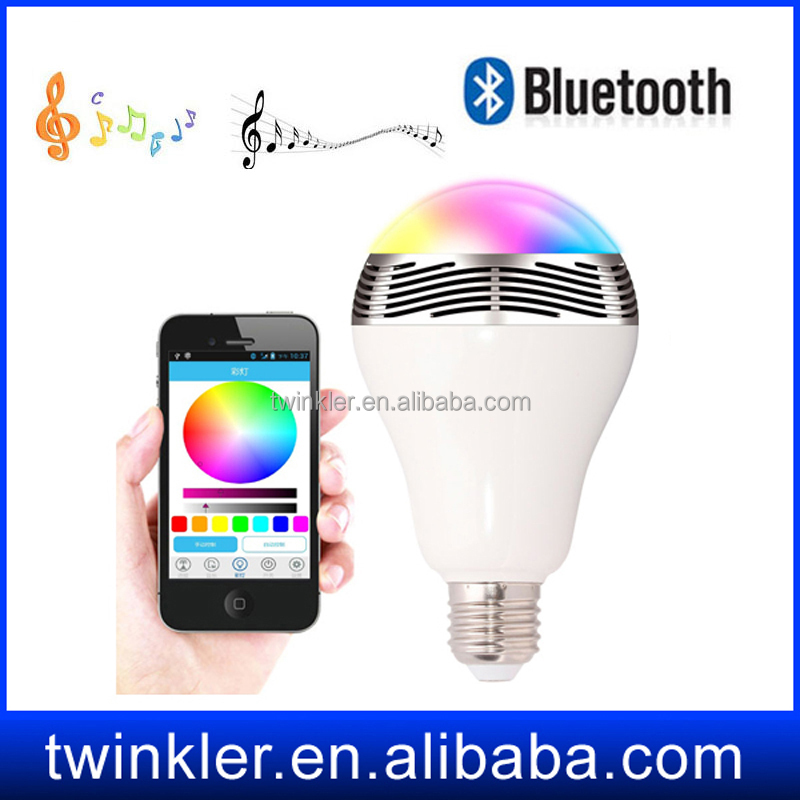speaker portable ,twinkler smart energy led bulbs light e27 9w , bluethooth speaker led bulb