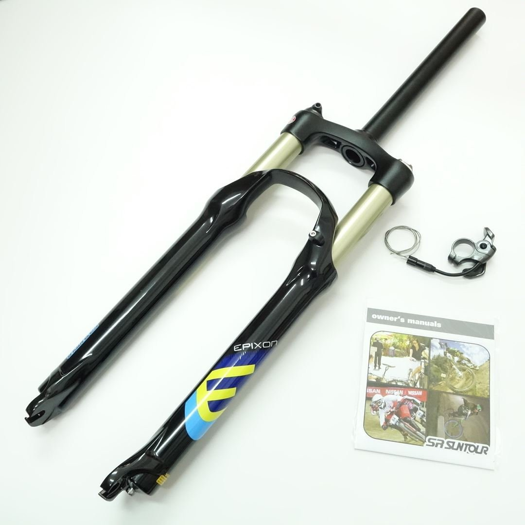 "SR Suntour Epixon XC MTB Fork (26"", 100mm, Remote Lockout, Air Spring, QR 9mm, Black)"