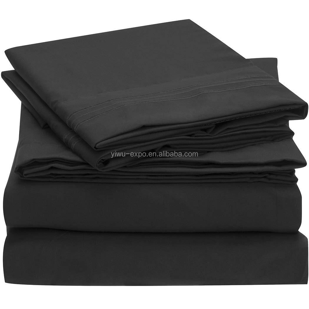 Bed Sheet Set - Brushed Microfiber 1800 Bedding - Wrinkle, Fade, Stain Resistant - Hypoallergenic - 4 Piece (Queen)