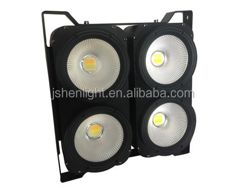 Stage Professional led audience blinders 4 eyes 4X100W RGBW 4in1 Audience COB LED BLINDER 4 CW/WW light