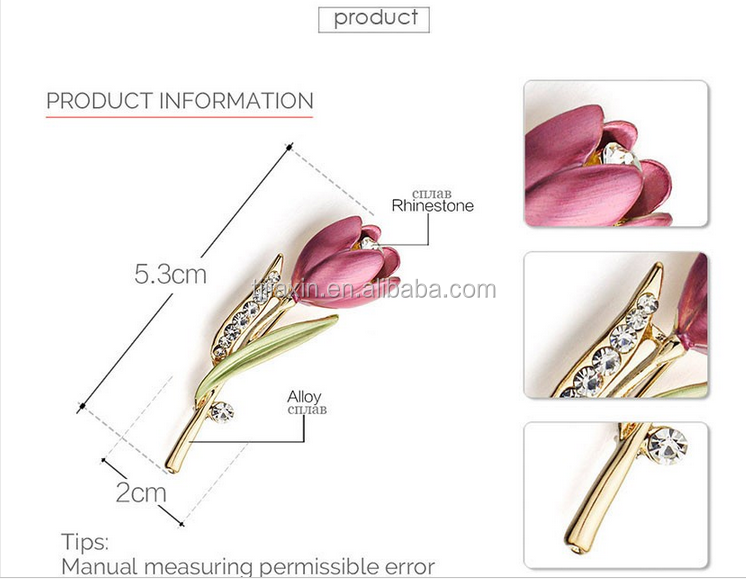 fa569075238 ... Elegant Tulip Flower Brooch Pin Crystal Costume Jewelry Clothes  Accessories Jewelry Brooches For Wedding