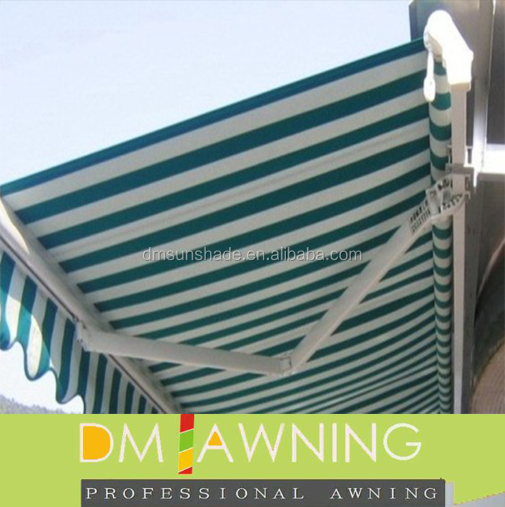 Coffee shop commercial retractable awning
