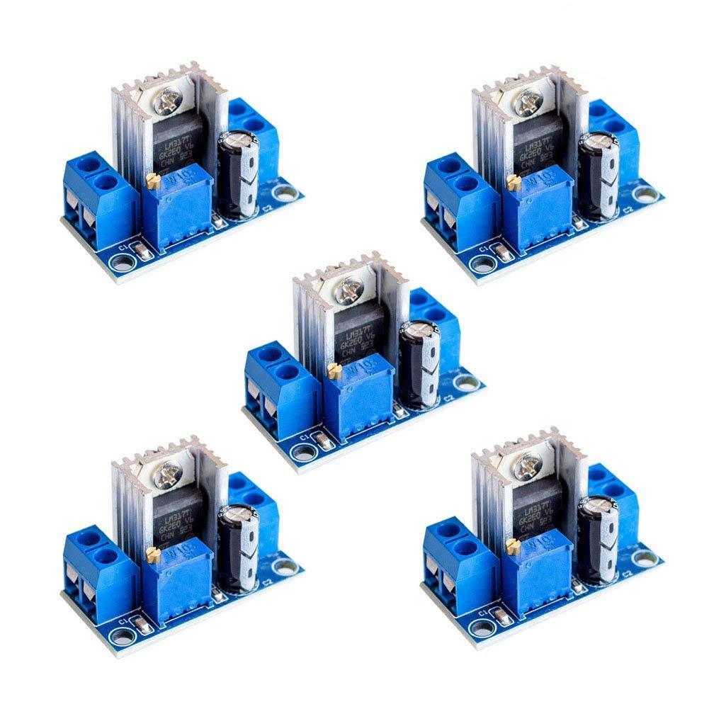Cheap Lm317 Voltage Regulator Circuit Find Battery Get Quotations 5 Pcs Dc Linear 4540v Turn 1237v