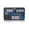 "5.5"" screen Head Up Displayer with GPS function plug and play Q7 car HUD OBD II speed alarm warning system work on all cars"