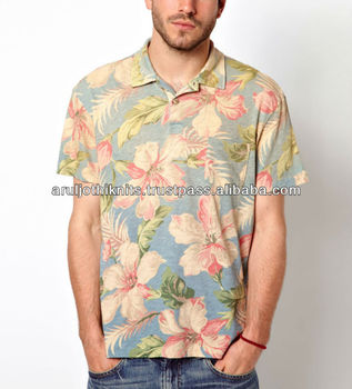 fb3a225c Men's Hawaiian Printed Polo Shirt - Buy Camouflage Polo Shirts,Floral ...