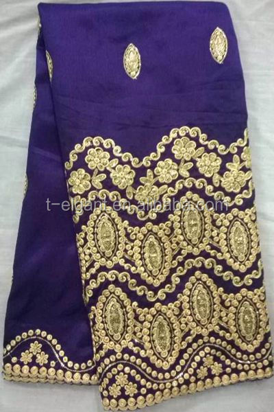 2015 raw silk george fabric/african lace george/raw silk george wrappers