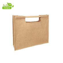 Promotional eco-friendly grocery packaging grocery wooden handle shopping bag