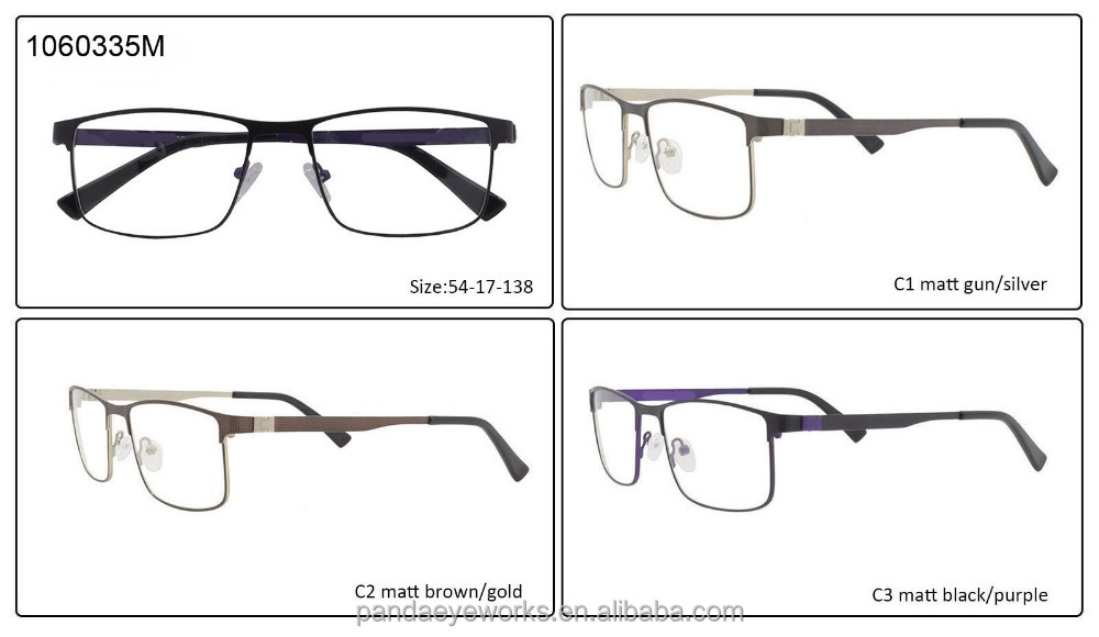 Gentleman metal frames small MOQ ready optical eyeglasses