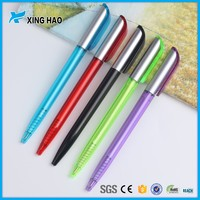 Chinese manufacturer transparent pen logo printed stationery writing pen