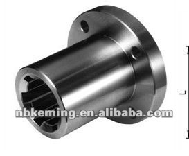 Spline hub with flange DIN 14 KN11X14 length 35mm